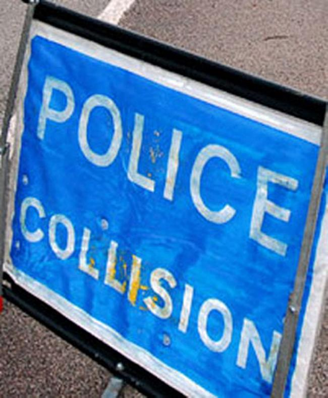 Bellegrove Road is blocked in both directions following a collision.