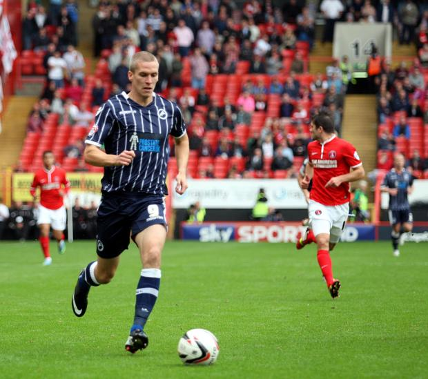 Steve Morison in action for Millwall
