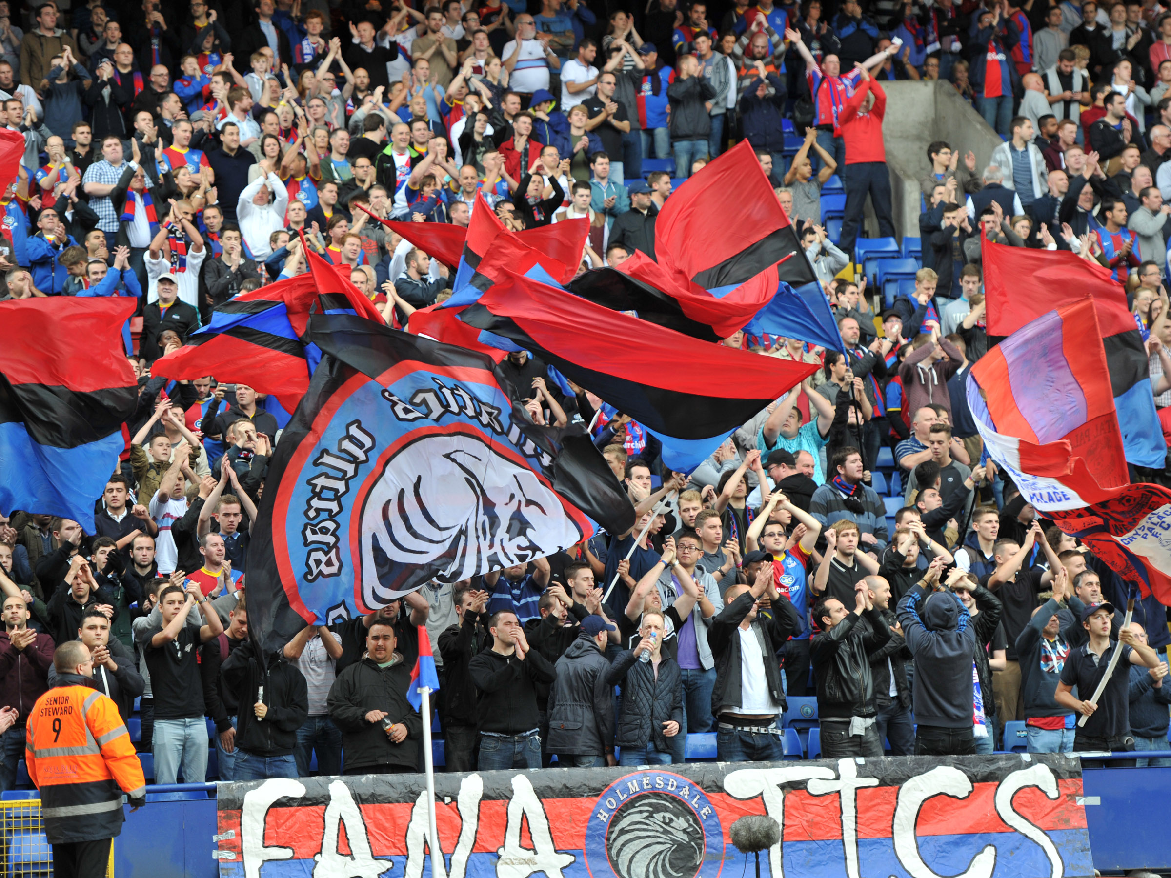 The Holmesdale Ultras will be doing it all again in the top flight next year. Picture by Keith Gillard.