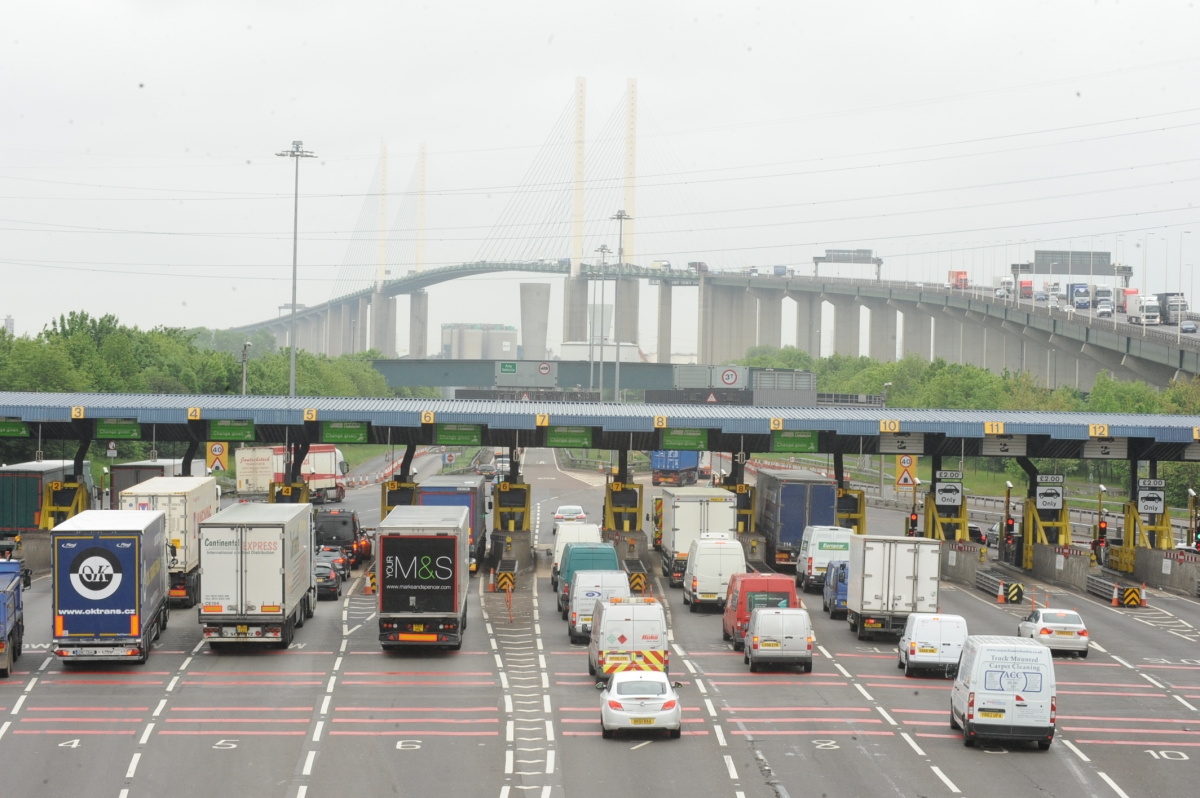 Highways Agency reports heavy traffic at Dartford Crossing