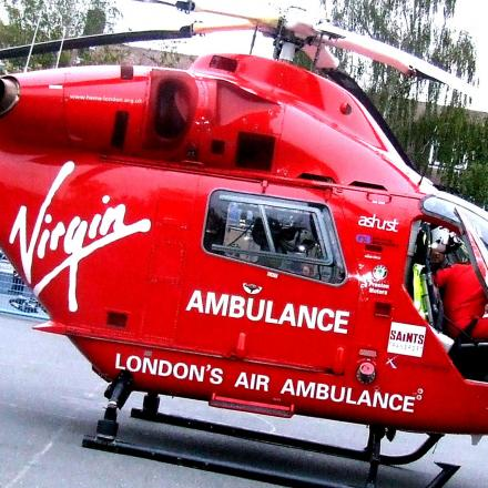 Abbey wood man 'hit by bus' and airlifted to hospital