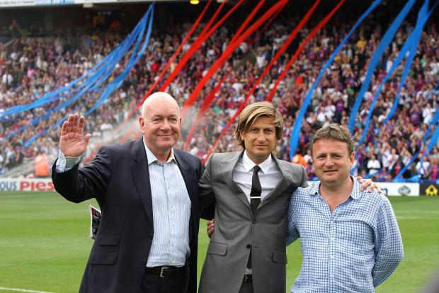 Crystal Palace's co-owners including Steve Browett (right).