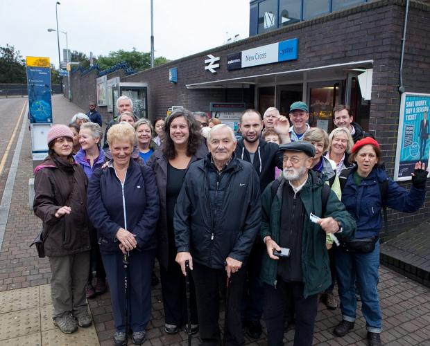 Heidi Alexander joins ramblers for walk from Blackheath to New Cross