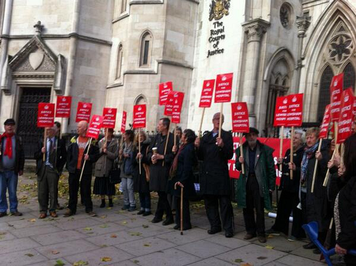 Lewisham Hospital campaigners back in court to fight Jeremy Hunt appeal