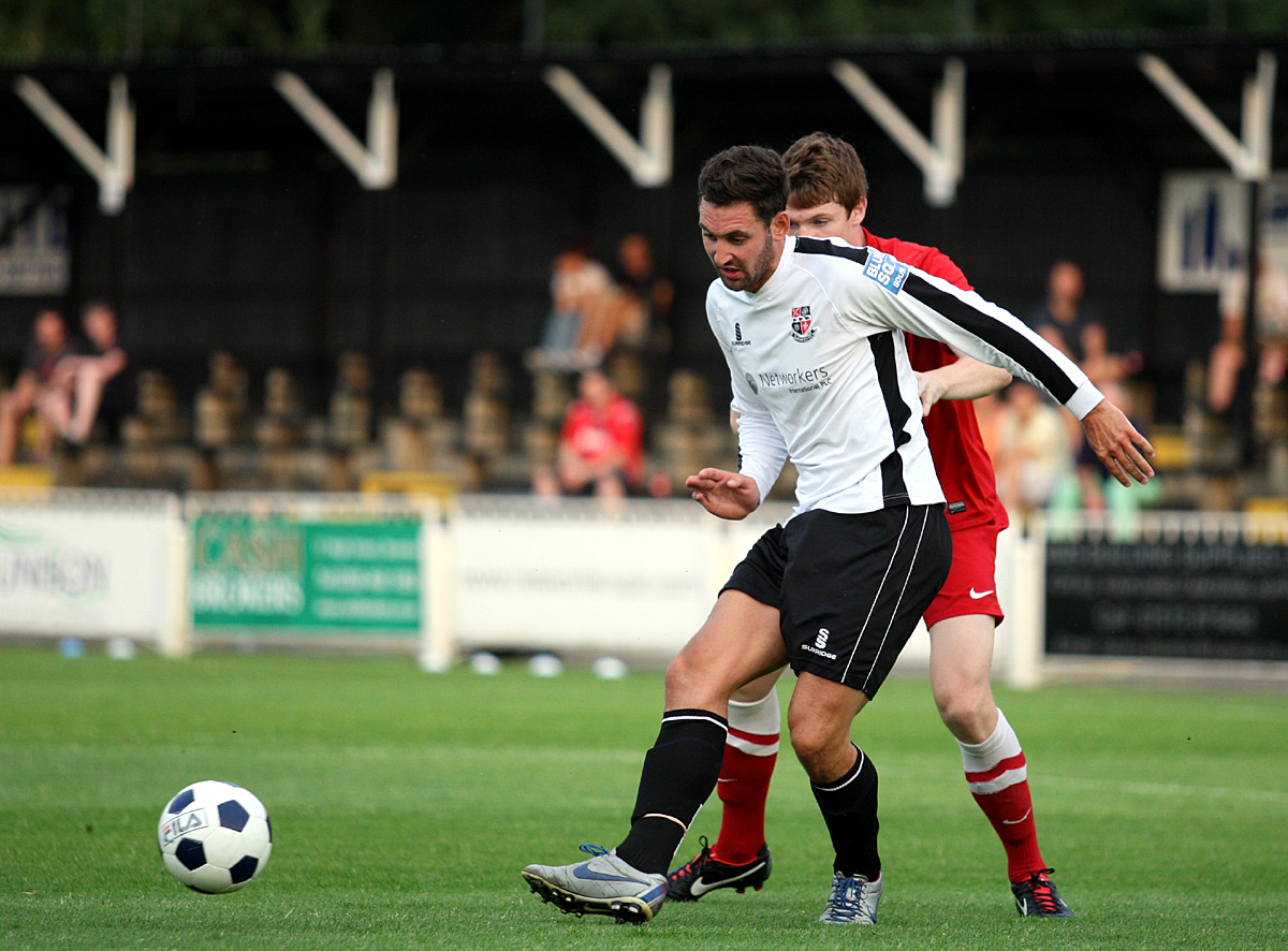 Jay May (above) gave Bromley a first half lead. picture by Edmund Boyden.
