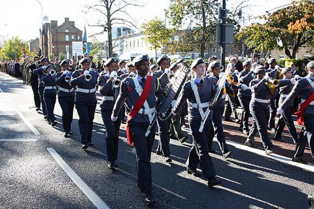 News Shopper: Marching band from 1475 Squadron ATC in Lewisham