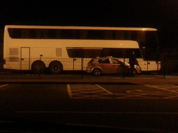 Police were called to this coach at Hall Place.