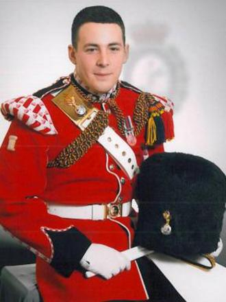 Fusilier Lee Rigby, who was murdered in the street in Woolw