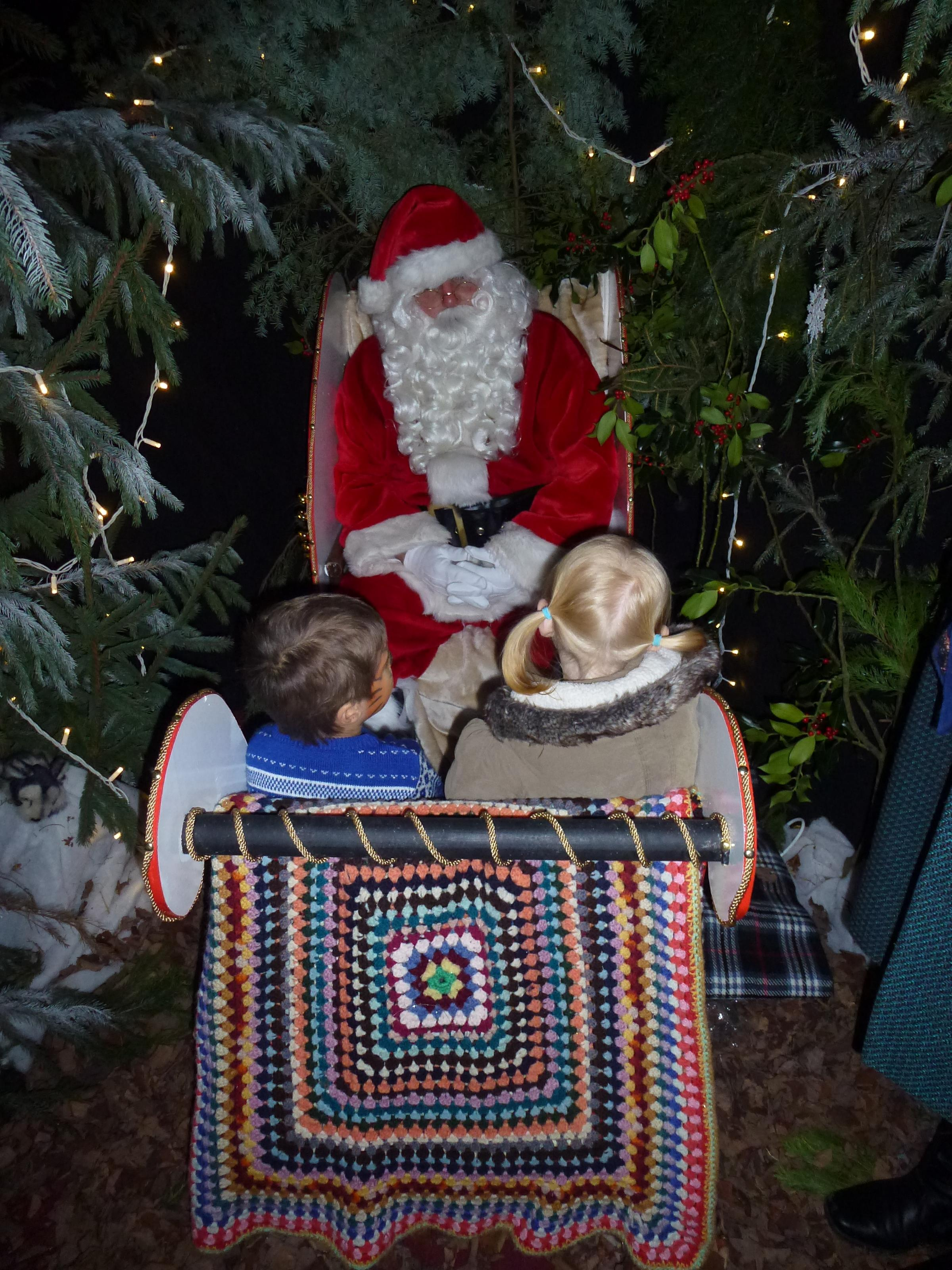 santa is through the wardrobe in narnia at penshurst place news shopper