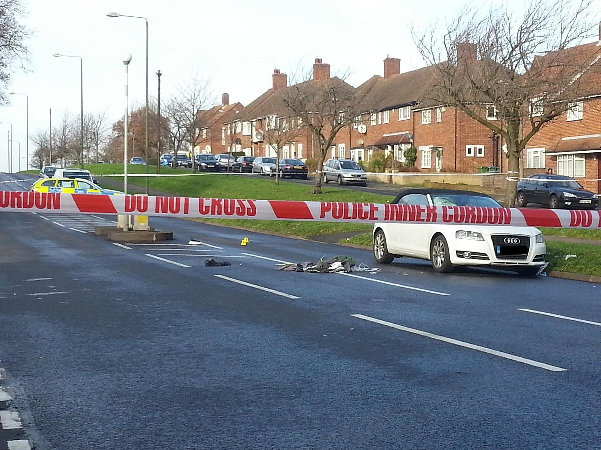 The scene of the crash which killed Chislehurst pensioner Cyril Carey