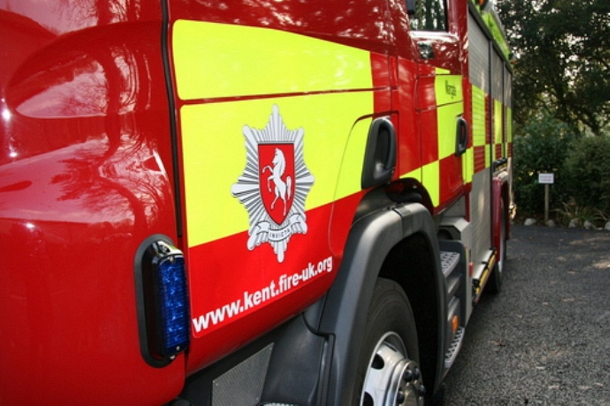 Kent fire crews were called to a kitchen fire in Gravesend this morning.