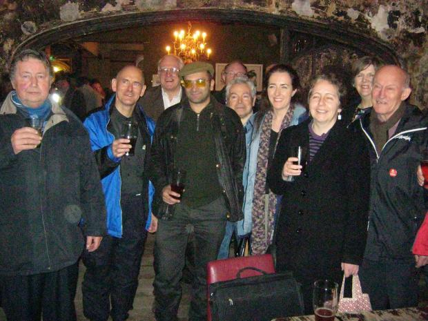 News Shopper: Some of the Baring Hall Hotel campaigners at the pub's opening night