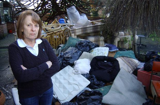 News Shopper: Rosemary Clay has been forced to throw out her furniture which was ruined in the floods