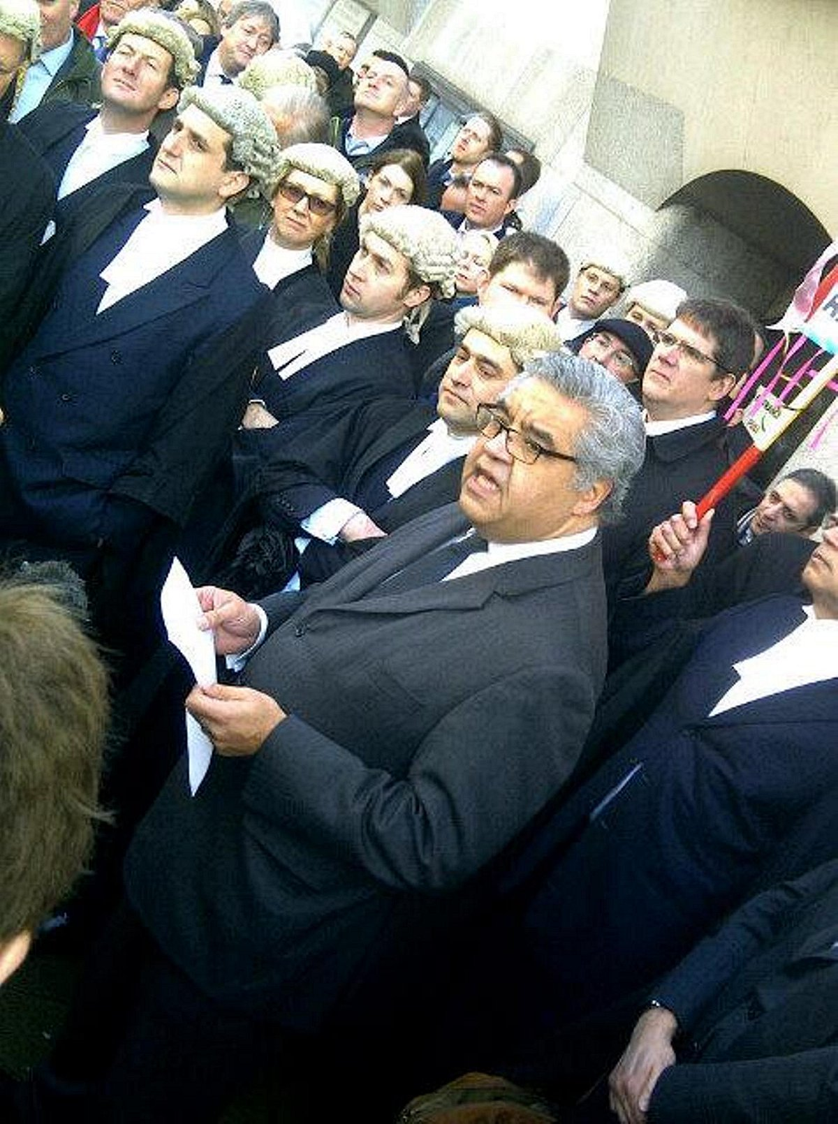 Criminal barristers stage half-day walk-out in protest at legal aid cuts