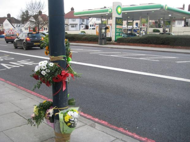 News Shopper: Flowers and tributes left at the scene of the crash