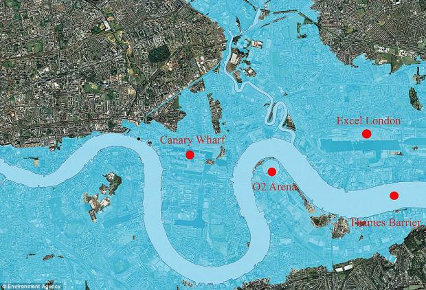 News Shopper: This is the area that may be affected by flooding in a 1 in 1,000 year flood event, if none of the Thames defences, barriers and walls were in place.  It does not reflect the area that would have been affected by the December storm and tidal surge.'