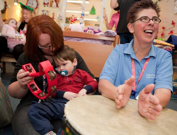 News Shopper: Demelza Eltham hospice holds music therapy party for sick children