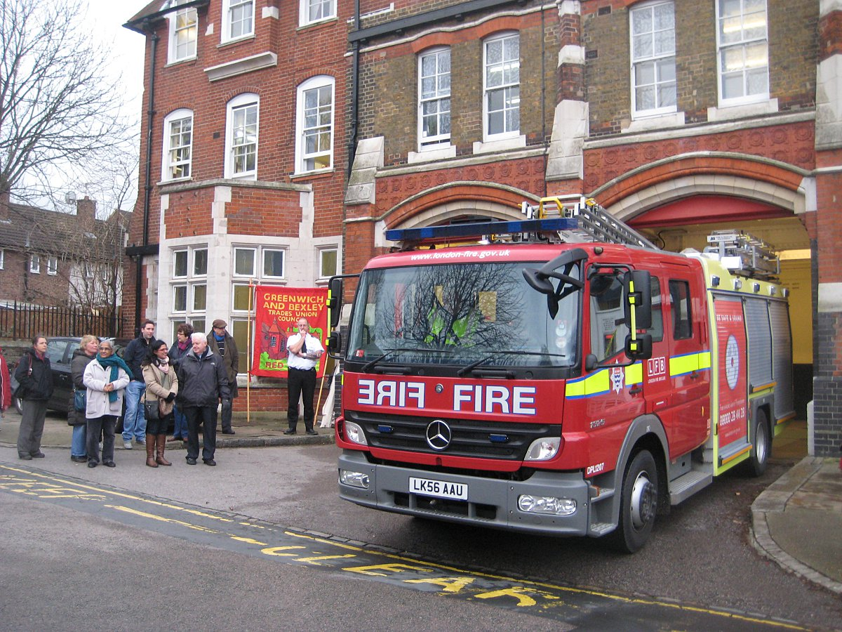 Woolwich and Downham fire stations close: Sadness and fears for future expressed at vigils