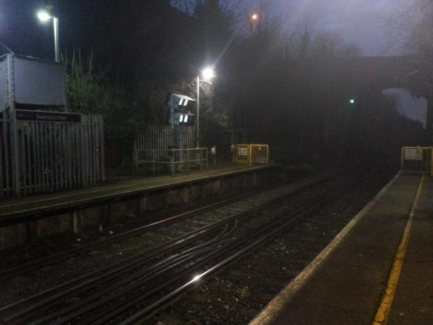News Shopper: The man came off the end of the platform into the path of a London-bound train travelling on the left hand stretch of track.