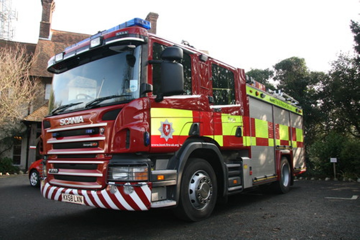 Two-storey building in Greenhithe bursts into flames