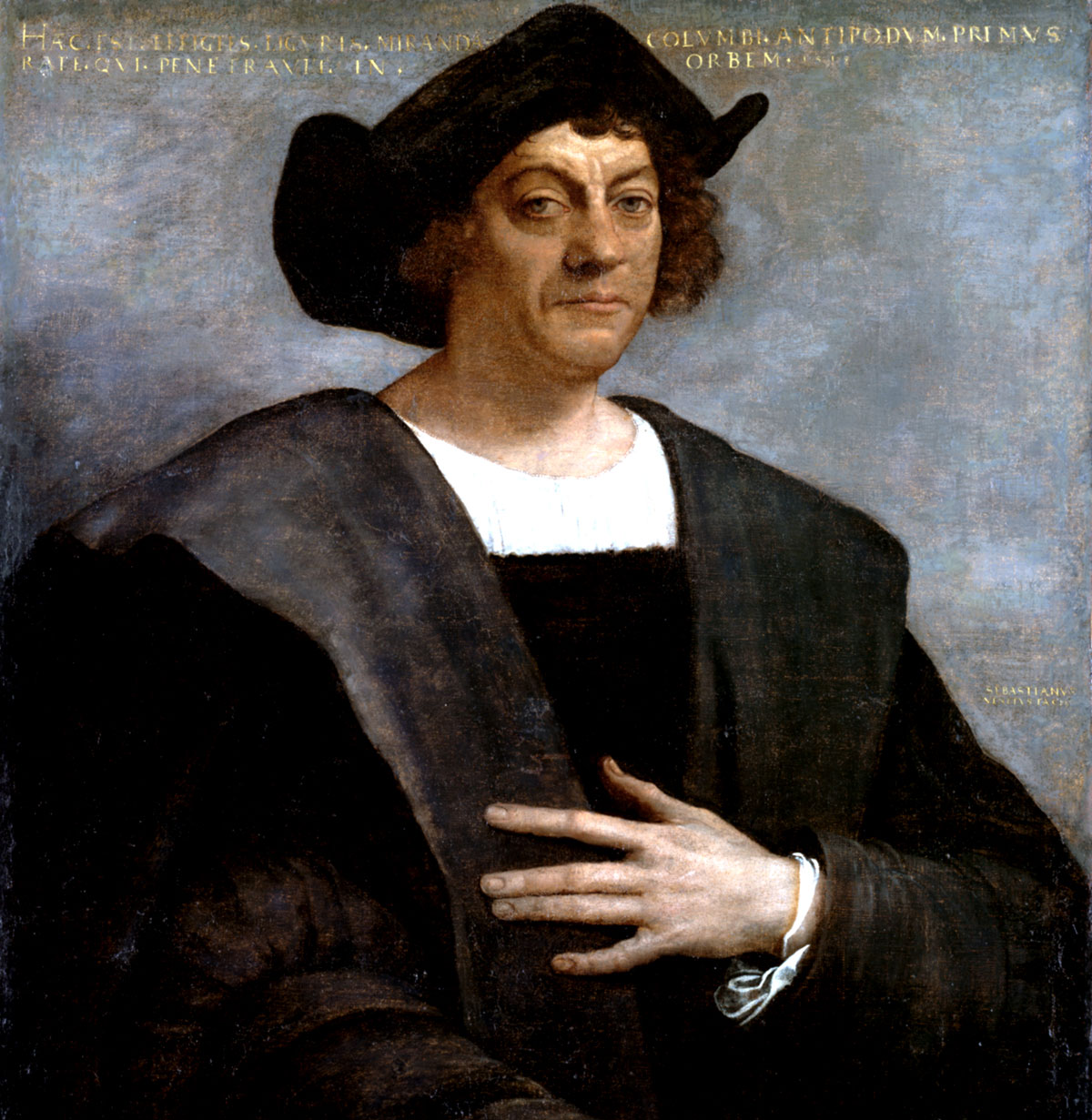 A posthumous portrait of Christopher Columbus by Sebastiano del Piombo, 1519