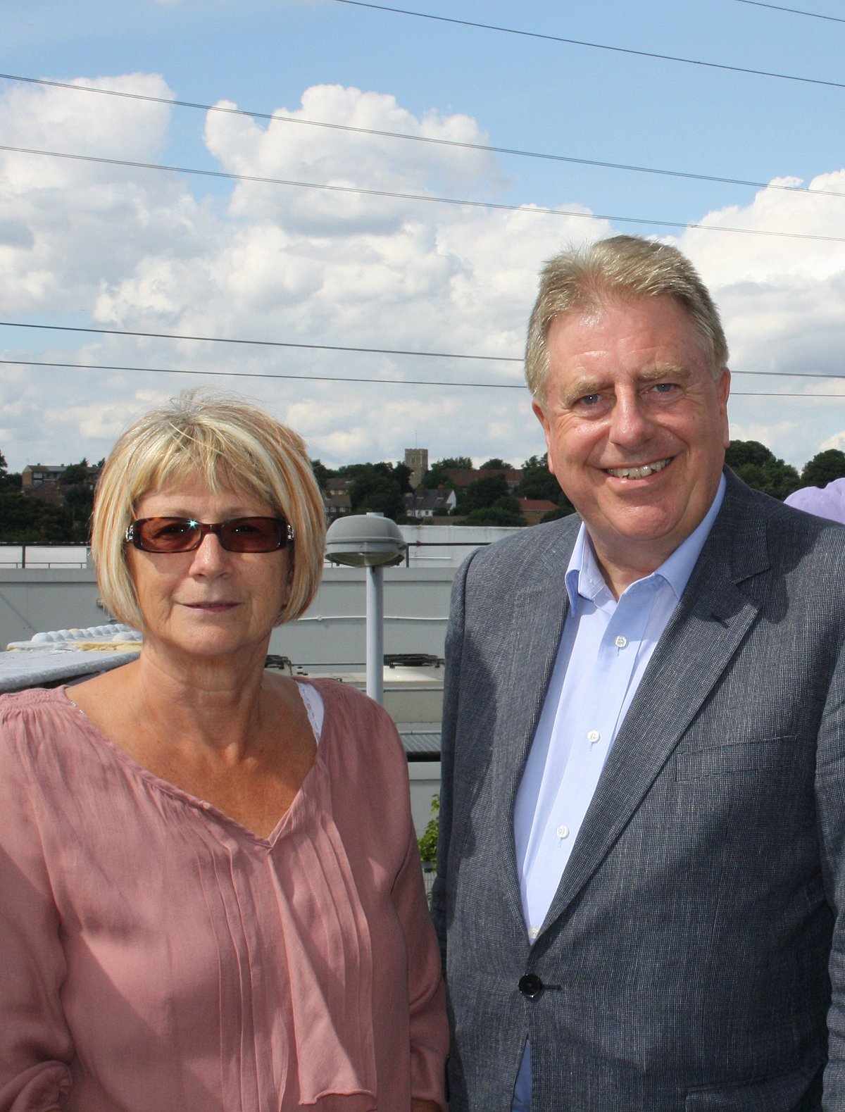Councillor Geraldene Lucia-Hennis and David Evennett MP