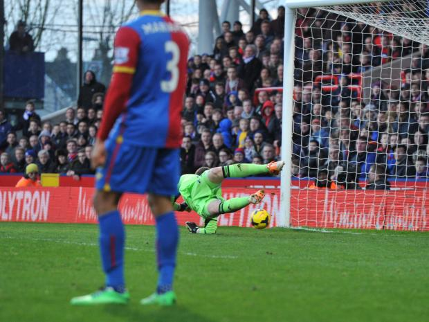 Jack Butland can't keep out Jason Puncheon's strike. PICTURES BY KEITH GILLARD.