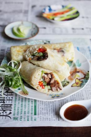 RECIPE: Hoisin Duck Rice Roll by Ching-He Huang