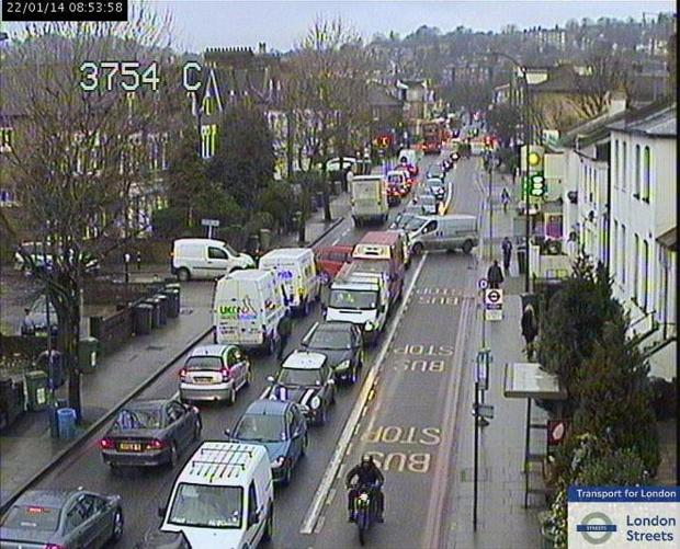 A picture of the congestion (by TfL)