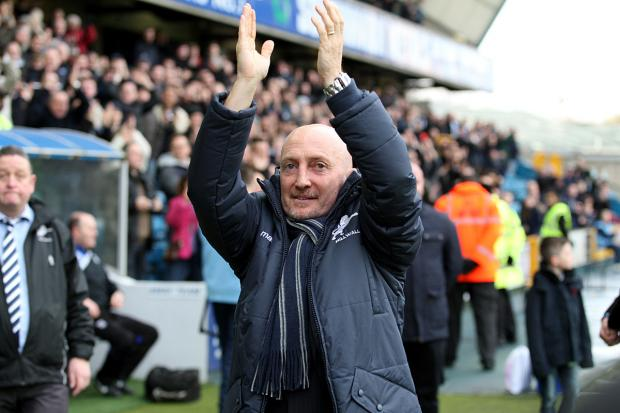 Ian Holloway is introduced to The Den crowd for the first time. PICTURE BY EDMUND BOYDEN.