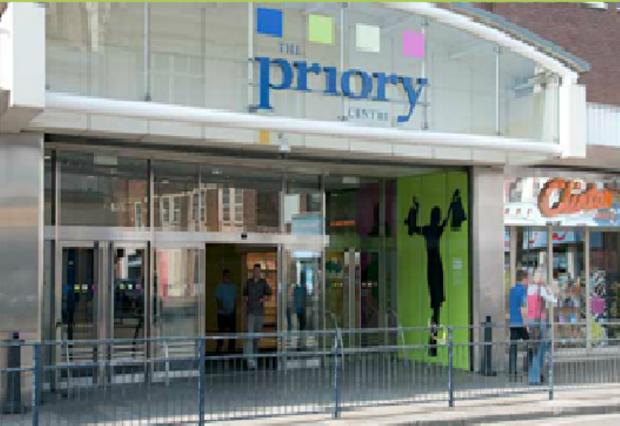 The Priory Shopping Centre in Dartford.