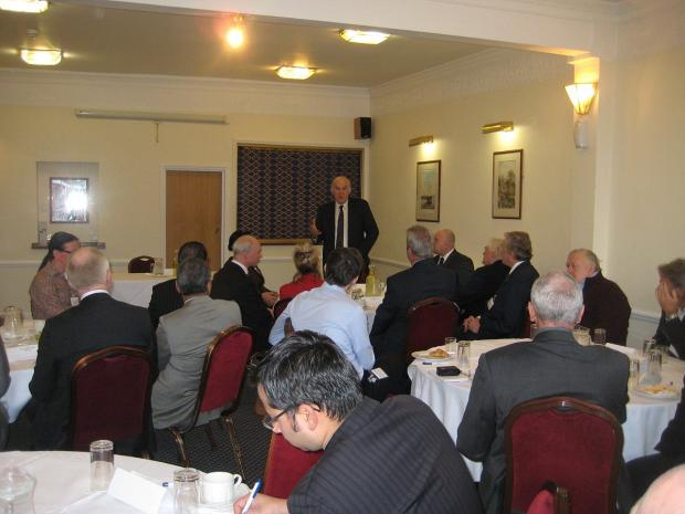 News Shopper: Vince Cable talks to Lewisham businesses in Blackheath