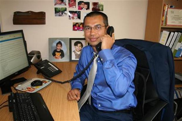 GP Dr Bhaskar Bora, clinical chair of NHS Dartford, Gravesham and Swanley Clinical Commissioning Group (CCG).