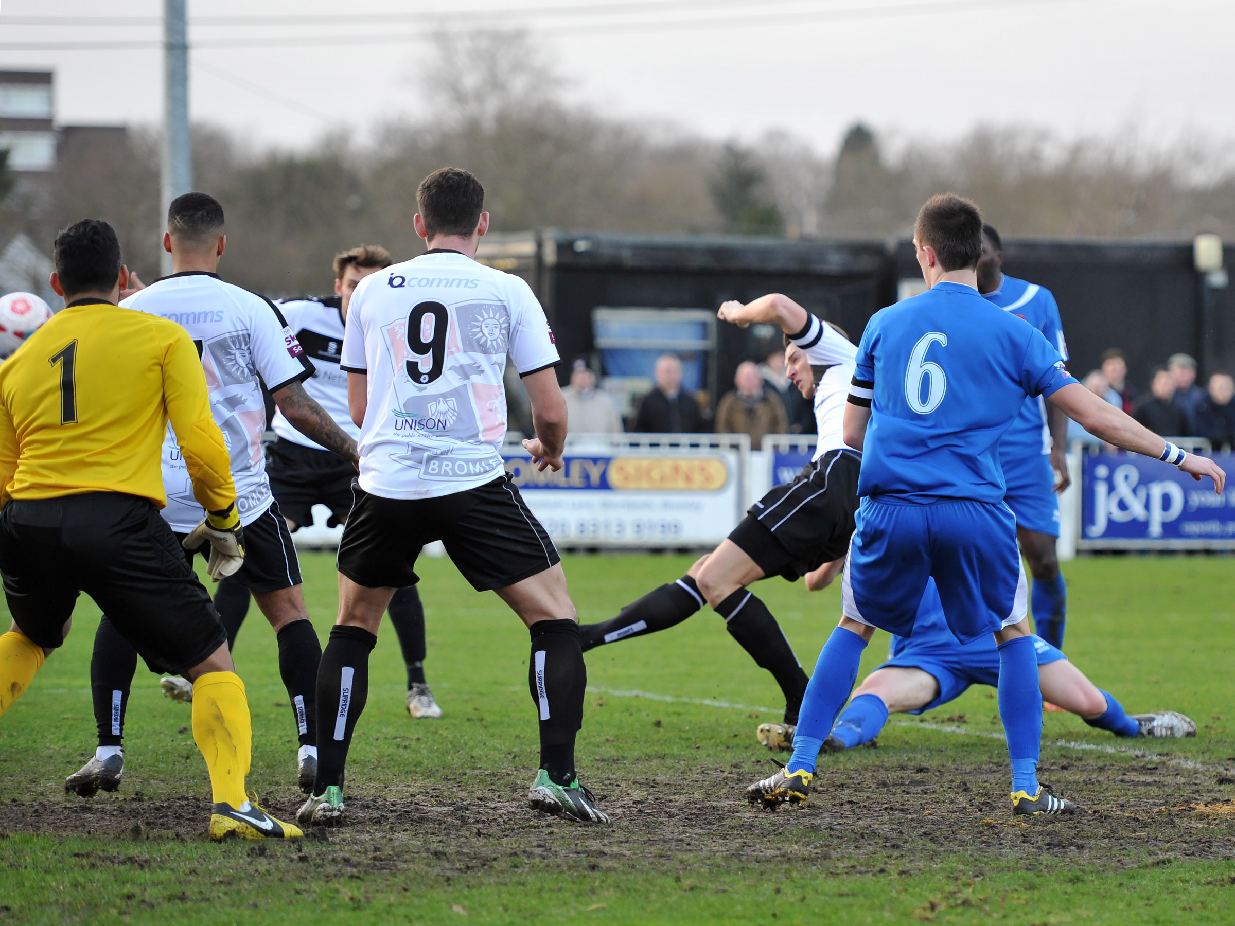 News Shopper: Rob Swaine fires Bromley in front