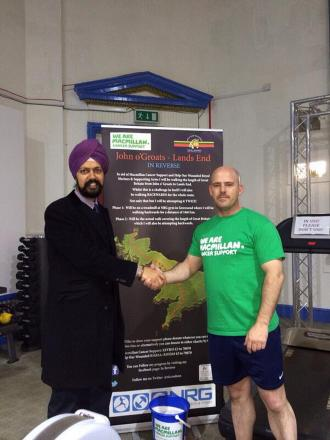 Ric Coulson (right) with Labour Parliamentary candidate for Gravesham Cllr Tanmanjeet Singh Dhesi
