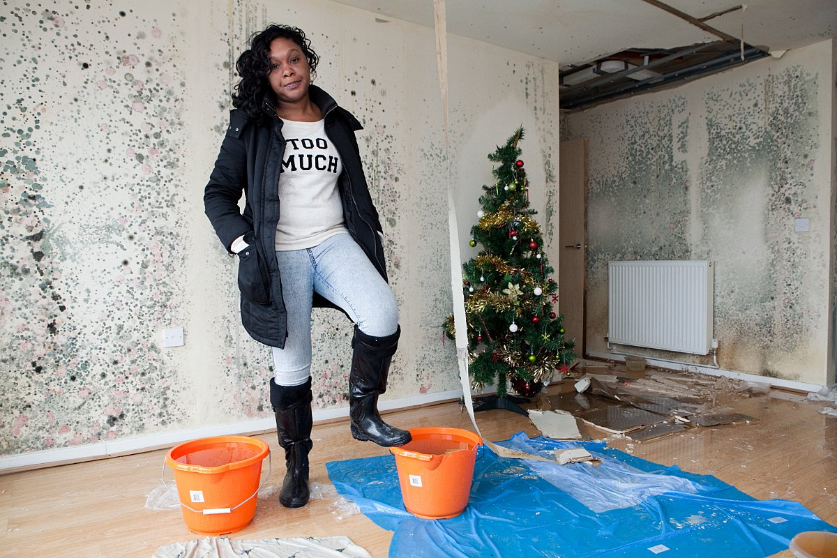 Orpington nurse 'homeless' since Christmas after roof collapsed in 'dangerous' damp flat