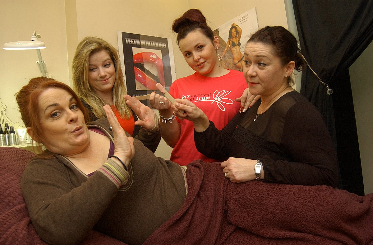 Left to right: client Rebecca Hales, Aimee Miller, salon worker Danielle Laber and owner Sue Davies.
