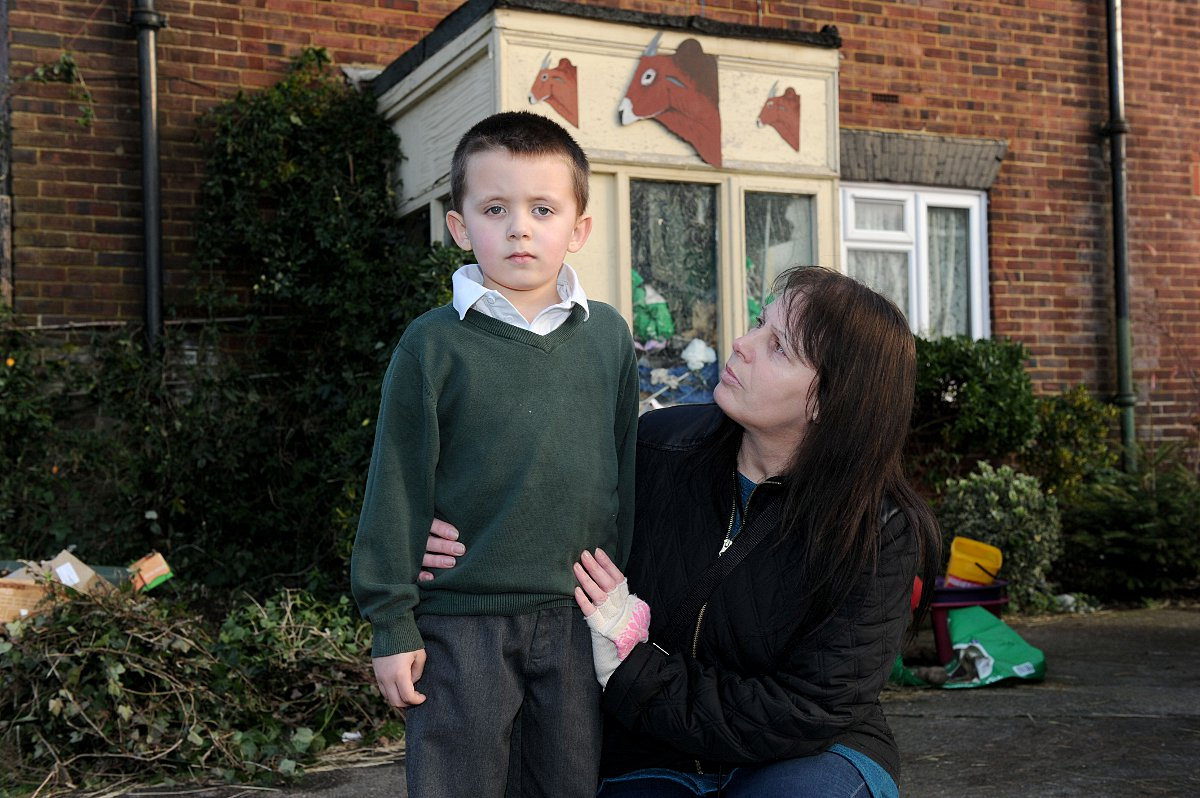 Woman with cancer and five-year-old son 'forced by police to leave house in the night'