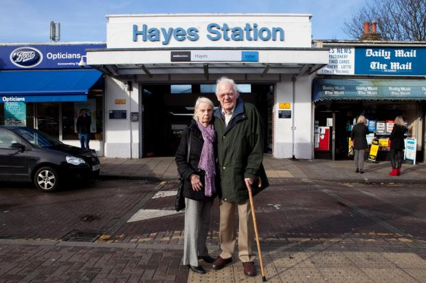 Mr and Mrs Payne couldn't get off at Hayes Station