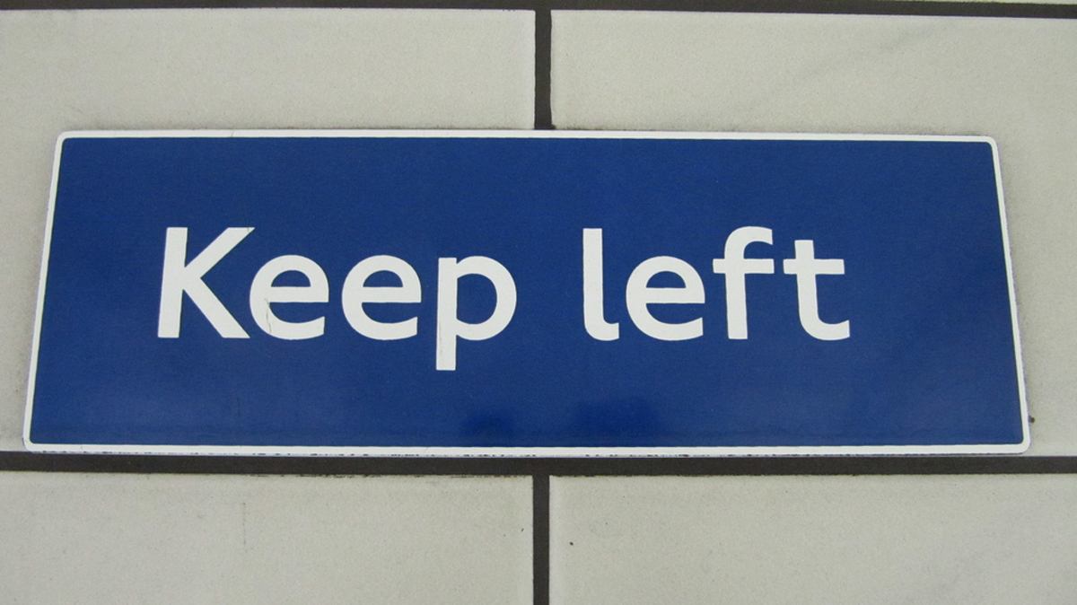 News Shopper: Keep Left sign