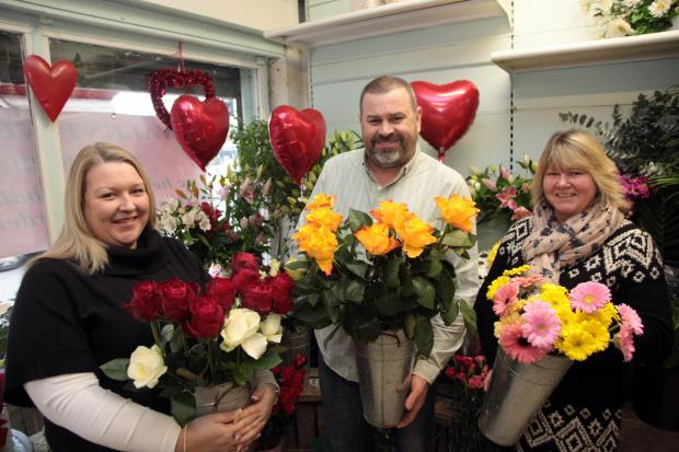 News Shopper: Bridge Artistic Flowers' Emma Wilson, owner Andrew Tucker and Tracy Hornsby