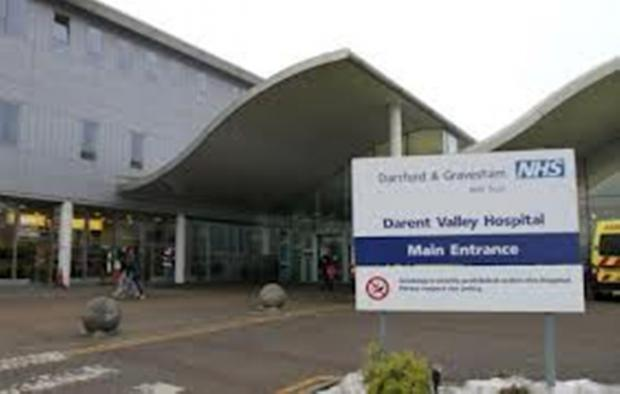 The current main reception at Darent Valley Hospital in Dartford.