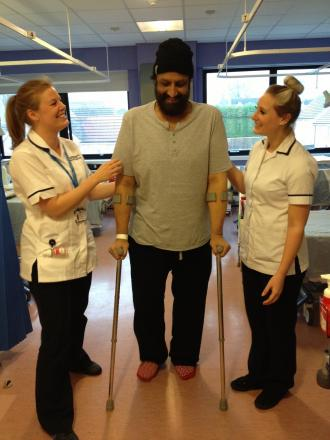 Satwant Singh-Taak is pleased with the surgery he received