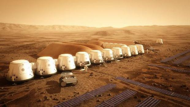 News Shopper: An artist's impression of the Mars One project
