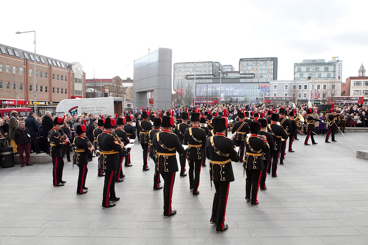PICTURED: Woolwich Royal Artillery Band leave with farewell performance