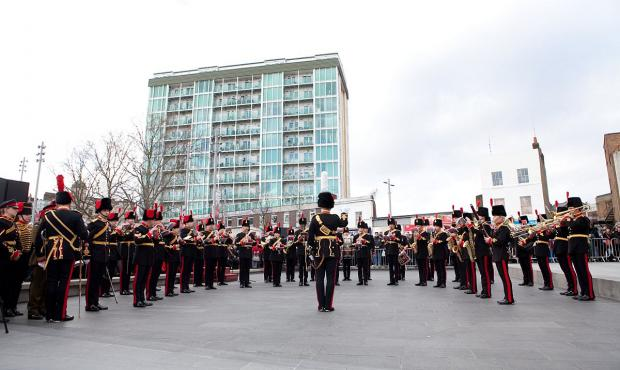 News Shopper: PICTURED: Woolwich Royal Artillery Band leave with farewell performance