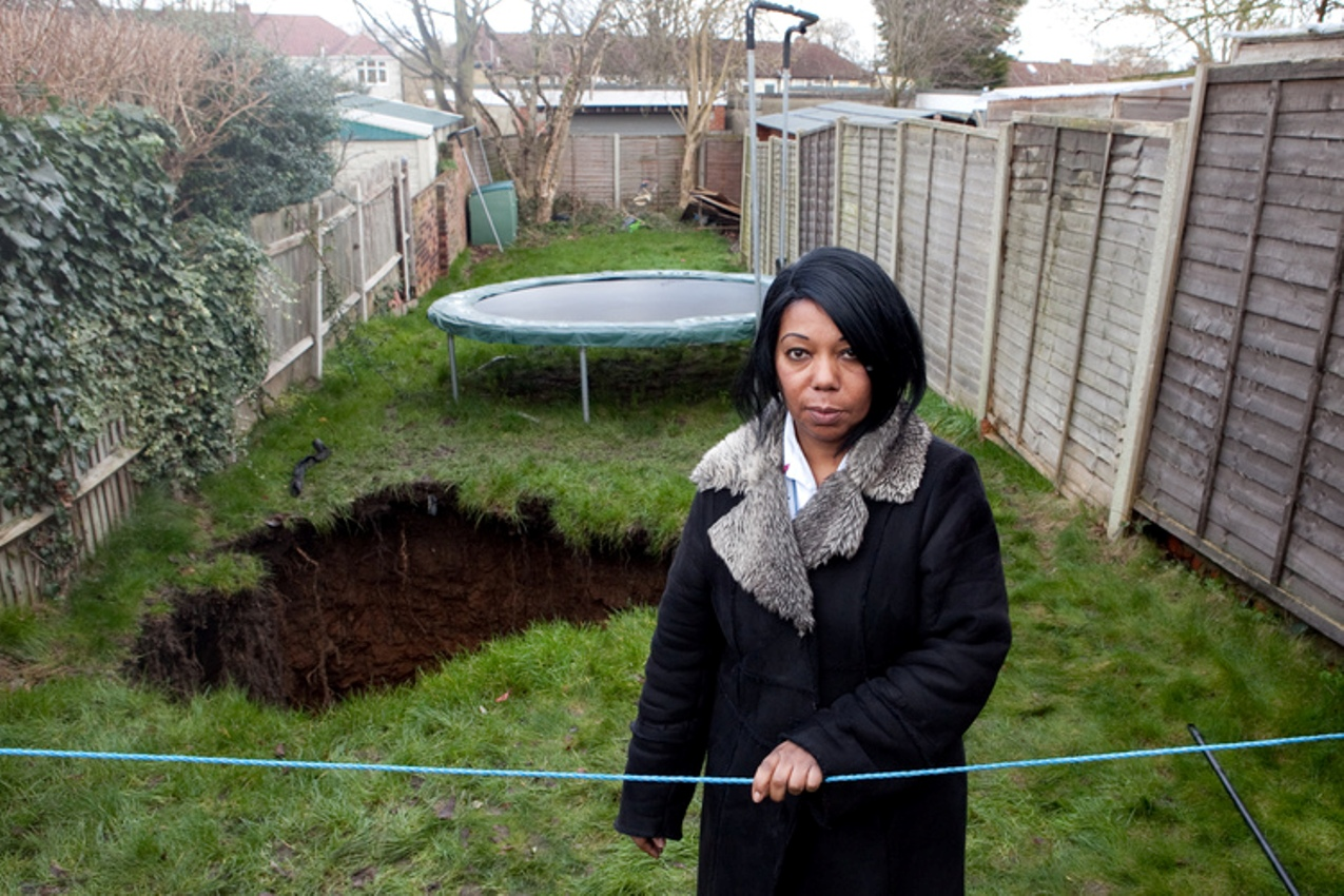 Barnehurst woman pays out £10,000 to get sinkhole the size of a double decker bus filled