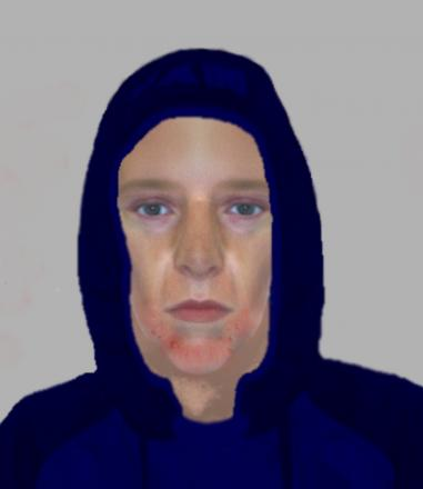 Police have released an e-fit of an man they are looking for in connection with the crime which took place on Tuesday, January 7 at 9.10pm.