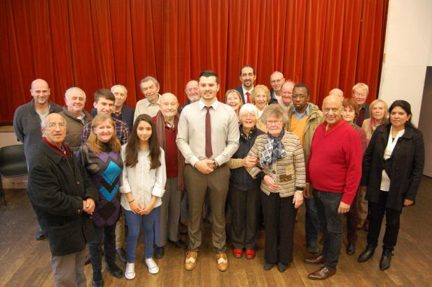 Ibby Mehmet (centre) with members of the Old Bexley and Sidcup Labour Party.