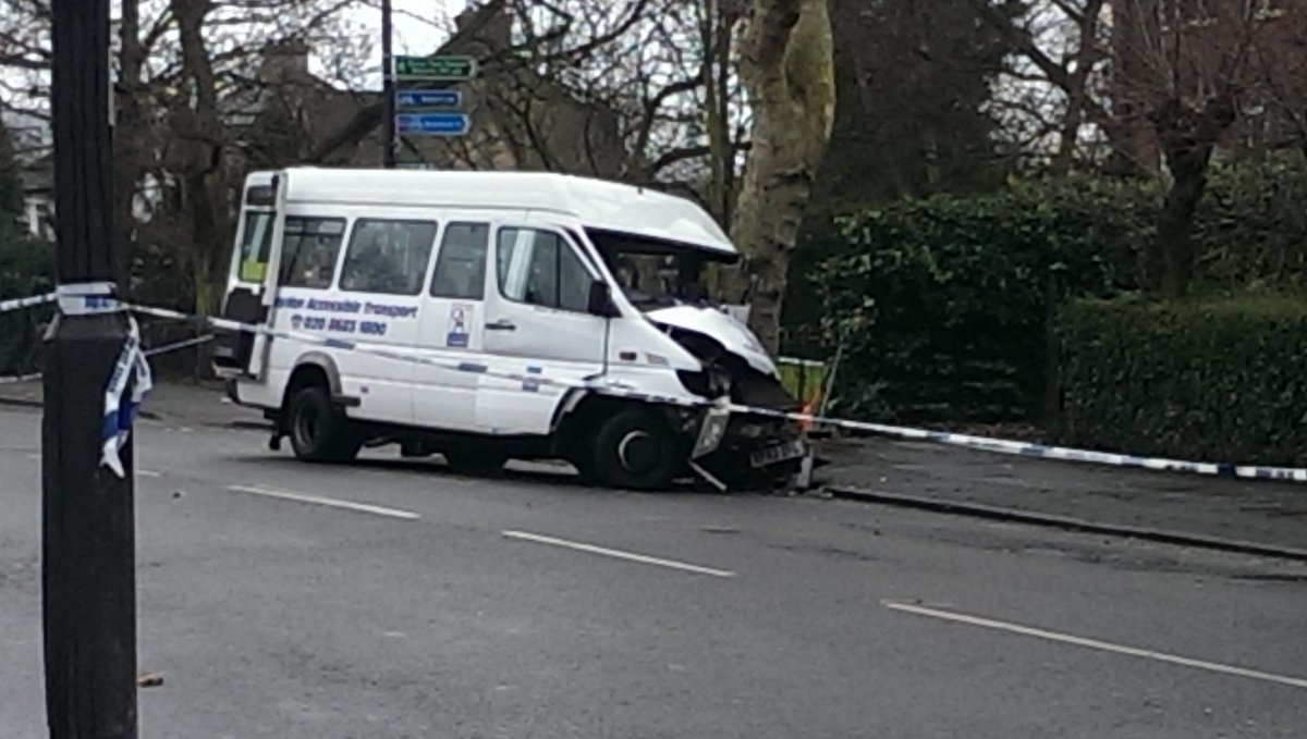 Six people taken to hospital after Grove Park mini-bus crash